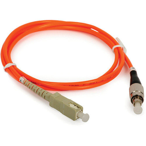 Camplex Simplex ST to SC Multimode Fiber Optic Patch Cable (Orange, 16.4')
