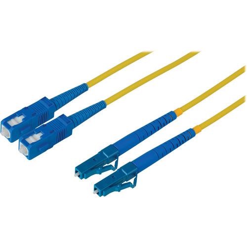 Camplex Duplex LC to Duplex SC Singlemode Fiber Optic Patch Cable (Yellow, 6.56')
