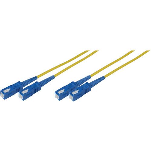 Camplex Duplex SC to Duplex SC Singlemode Fiber Optic Patch Cable (Yellow, 13.12')