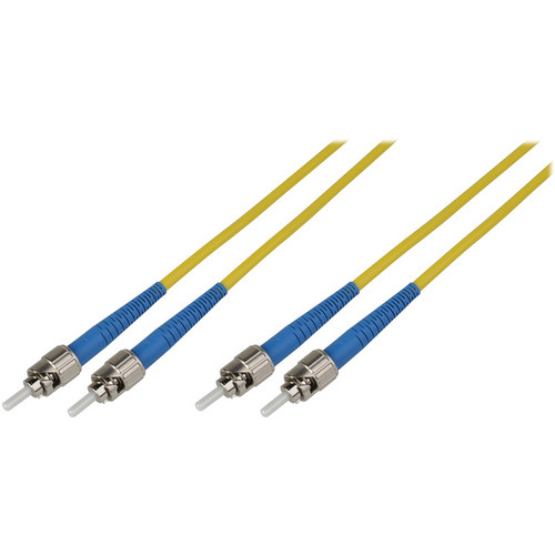 Camplex Duplex ST to Duplex ST Singlemode Fiber Optic Patch Cable (Yellow, 32.8')