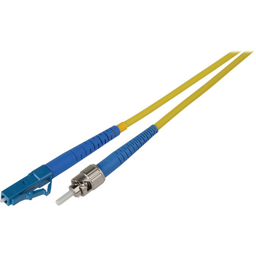 Camplex Simplex ST to LC Singlemode Fiber Optic Patch Cable (Yellow, 16.4')
