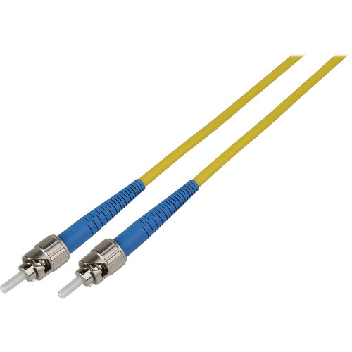 Camplex Simplex ST to ST Singlemode Fiber Optic Patch Cable (98.42', Yellow)