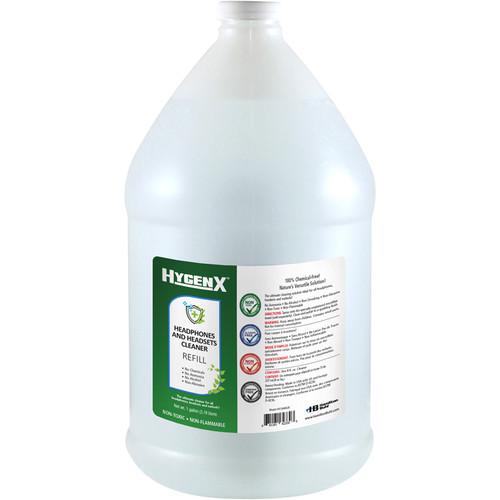 HamiltonBuhl HygenX Headphone and Headset Cleaner Refill Bottle (1 Gallon)