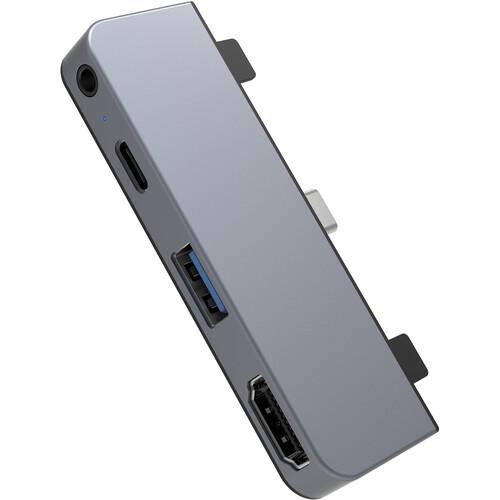 HYPER HyperDrive HD319E 4-Port USB Type-C Hub for iPad Pro 2018 (Space Gray)