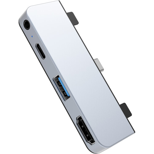 HYPER HyperDrive HD319E 4-Port USB Type-C Hub for iPad Pro 2018 (Silver)