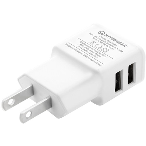 HyperGear Dual USB Wall Charger with Micro-USB Cable (White)
