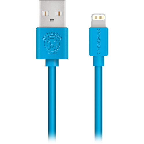 HyperGear MFi Lightning Charge & Sync Cable (4', Blue)