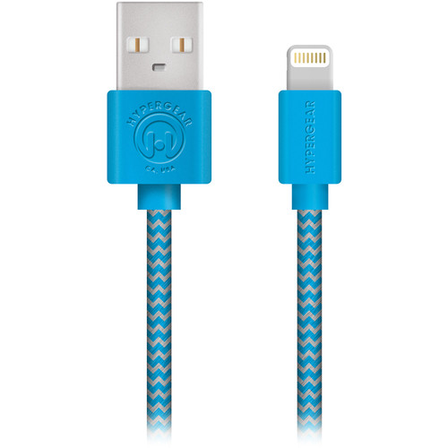 HyperGear MFi Lightning Charge & Sync Braided Cable (4', Blue)
