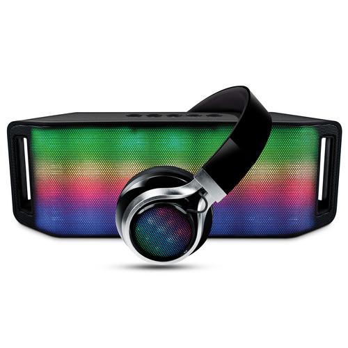 HyperGear Rave Wireless Speaker and Headphones Combo (Black)