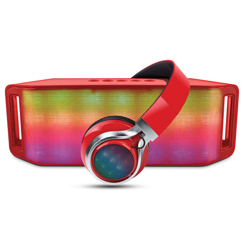 Hypergear Rave Wireless Speaker and Headphones Combo (Red)