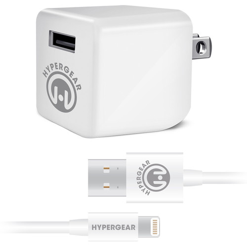 HyperGear Rapid Wall Charger with Lightning Connector Cable (4', White)