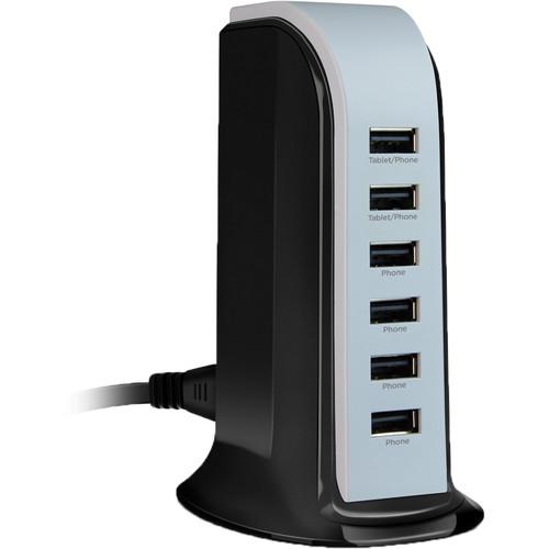 HyperGear Hypergear Power Tower 6 6A/30W Charging Station Black