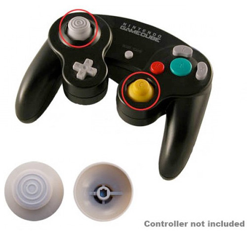 HYPERKIN Replacement Analog Cap for Nintendo GameCube Controller (Gray)