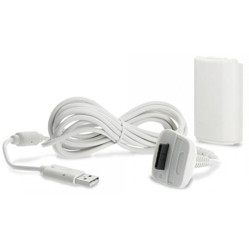 HYPERKIN Tomee Stay 'n' Play Controller Charge Kit for Microsoft Xbox 360 (White)