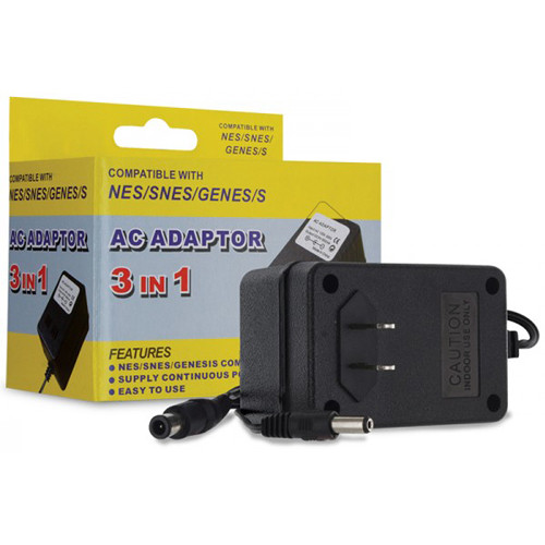 HYPERKIN 3-in-1 Universal AC Adapter for Genesis/SNES/NES Gaming Systems