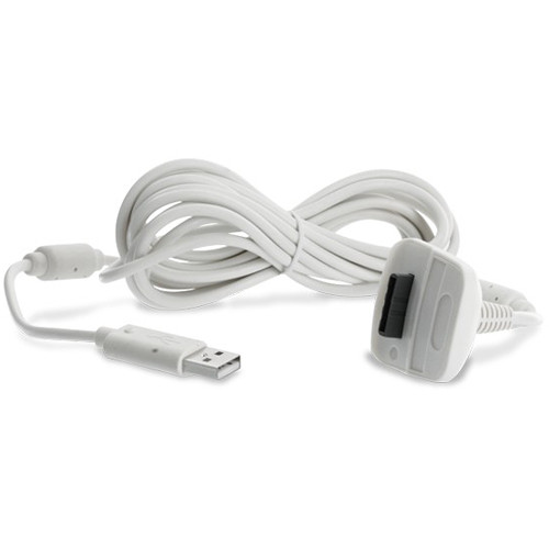 HYPERKIN Tomee Controller Charge Cable for Microsoft Xbox 360 (White)