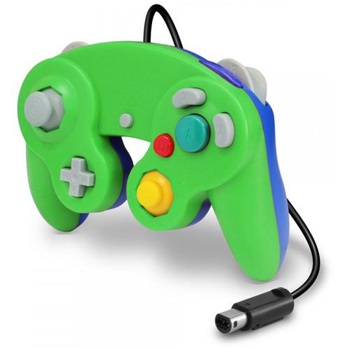 HYPERKIN CirKa Wired Controller for Wii/GameCube (Green/Blue)