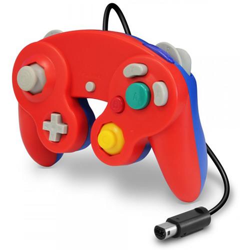 HYPERKIN CirKa Wii/GameCube Wired Controller (Red/Blue)