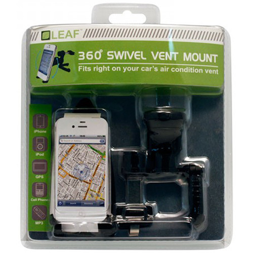 HYPERKIN Leaf 360 Degree Swivel Vent Car Mount for iPhone/iPod/Android/GPS/MP3