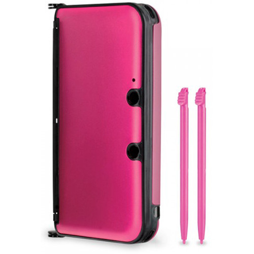 HYPERKIN Aluminum Shell with Two Stylus Pens for Nintendo 3DS XL (Pink)
