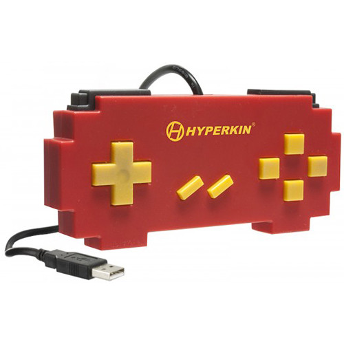 HYPERKIN Pixel Art SNES-Style USB Controller for PC/Mac (Red)