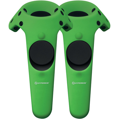 HYPERKIN GelShell Silicone Skin for HTC Vive Controllers (2-Pack, Green)