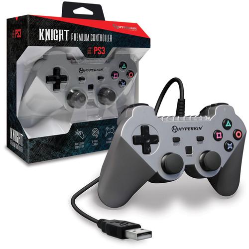 HYPERKIN Knight Premium Controller for PS3/PC/Mac (Silver)