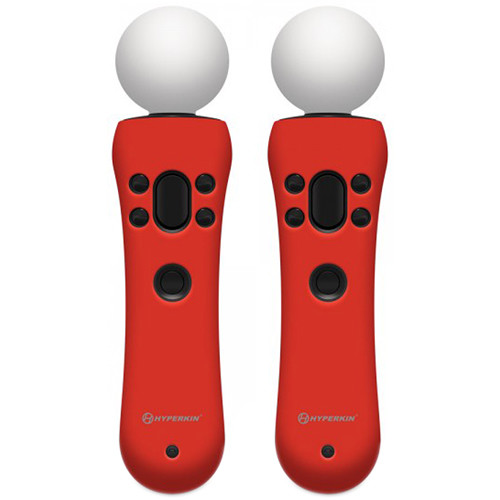 HYPERKIN GelShell PS Move Silicone Skin (Red, 2-Pack)