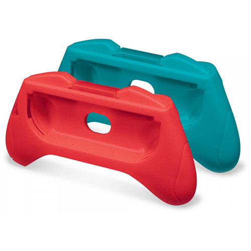 HYPERKIN Pro Handle Attachment Set for Nintendo Switch Joy-Con (2-Pack, Blue/Red)
