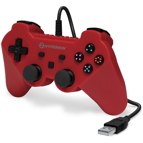 HYPERKIN Brave Knight Premium PS3 Controller (Red)