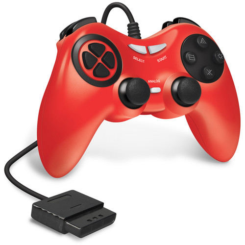 HYPERKIN Armor3 Wired Game Controller for Sony PS2 (Red)