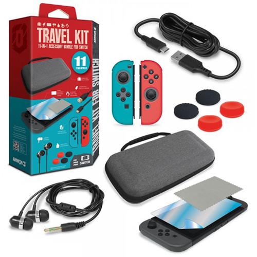 HYPERKIN Armor3 Travel Kit for Nintendo Switch (Red/Blue)