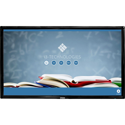 """i3 Technologies i3TOUCH V-Series Interactive Display 86"""" 4K 20 Touch Points With Wall Mount - V Sense"""