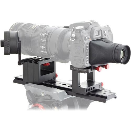 iDC Photo Video SYSTEM ONE FF/VF Kit for Nikon D7000 No Grip (2 Wheels/Lens Br)
