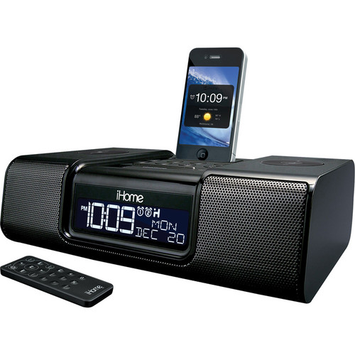 iHome iA9 App-Enhanced Dual Alarm Clock Radio for iPhone/iPod (Black)