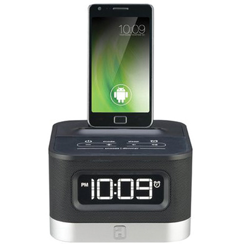 iHome iC50 FM Stereo Alarm Clock Radio f/ Android Smartphones