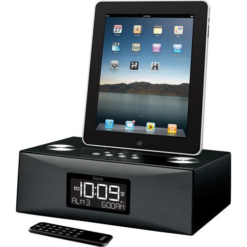 ihome id84 app enhanced dual alarm clock am fm radio id84 b h. Black Bedroom Furniture Sets. Home Design Ideas