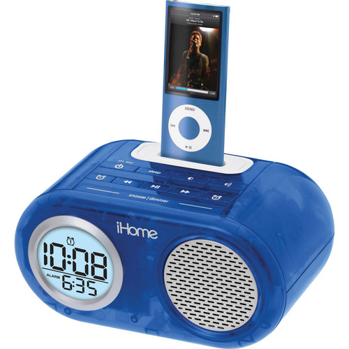 iHome Dual Alarm Clock for iPod (Blue)