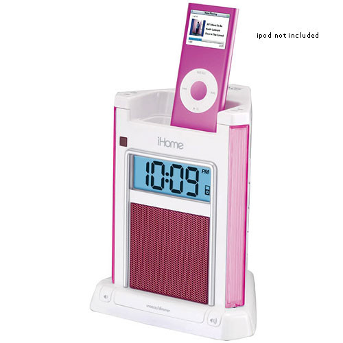 iHome iH4P Alarm Clock for iPod (Pink)