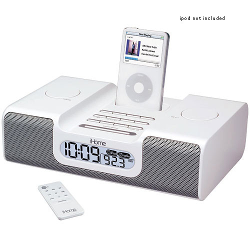 iHome iH8WR  iPod Clock Radio (White)
