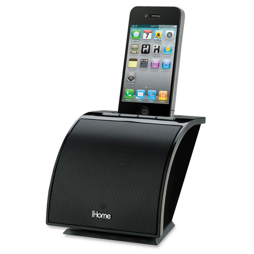 iHome Space Saving Speaker System for iPhone or iPod (Black)