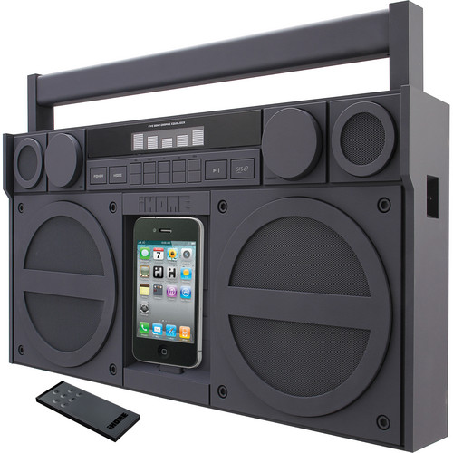 iHome iP4 Portable FM Stereo Boombox for iPhone / iPod (Gray)