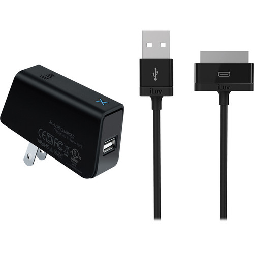 iLuv USB AC Adapter With iPad / iPhone / iPod Cable