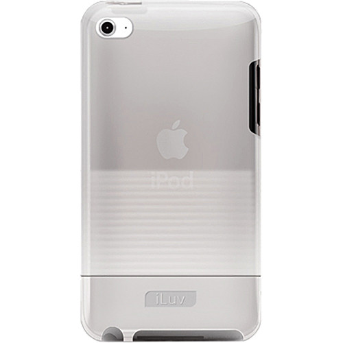 iLuv Tinted PC Rubberized Hard Case for iPod touch 4th Generation Player (White)