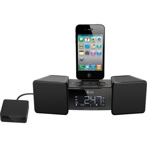 iLuv Vibro II Alarm Clock With Shaker for Your Phone / iPod (Black)