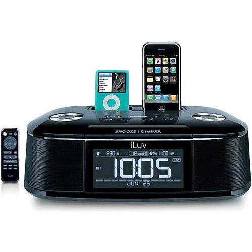 iluv imm173 ipod iphone hi fi dual alarm clock radio. Black Bedroom Furniture Sets. Home Design Ideas