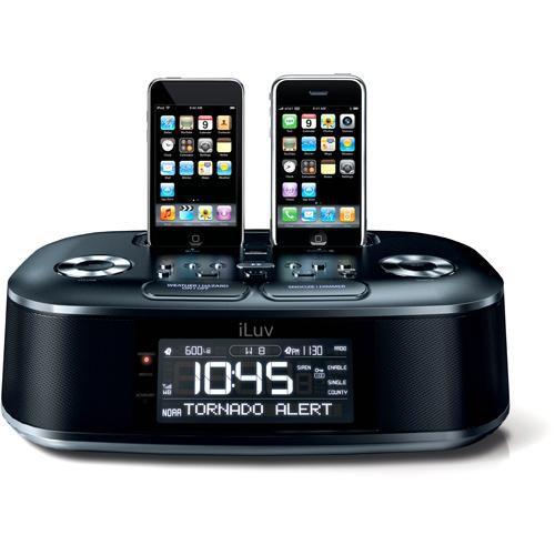 iLuv iMM183BLK Hi-Fi Dual Alarm Clock Radio with NOAA/S.A.M.E Weather Alert