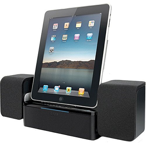 iLuv iMM747 Audio Cube Speaker Dock for iPad, iPhone, & iPod - Black