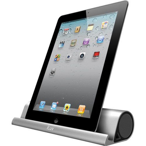 iLuv iSP245 Mo'Beats Portable Stereo Bluetooth Speaker Stand (Silver)