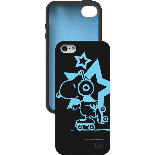 iLuv Snoopy Glow-in-the-Dark Case for iPhone 5 (Black)